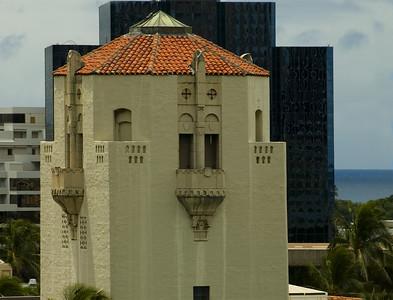 Honolulu Hale cupola, built in 1928, is a beautiful building created in a California-Spanish style designHonolulu, Hawai'i