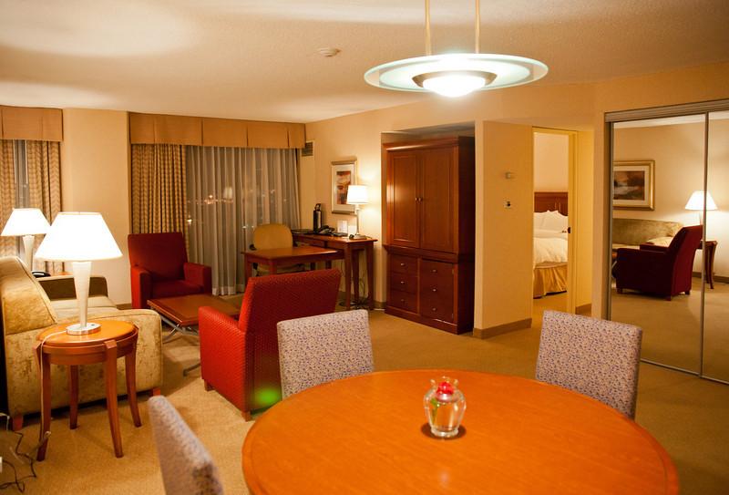 Concierge-level suite at the Delta Hotel Ottawa.