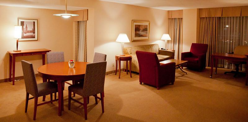A rather posh concierge-level suite at the Delta Hotel Ottawa