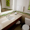Newly-renovated bathroom at the Westin Hotel Ottawa.