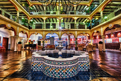 9 Exposure HDR shot in the lobby of the Europapark Resort Hotel El Andaluz