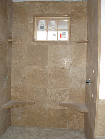 Guest shower... waiting for grout and hard ware
