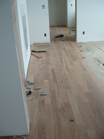 Hardwood floors in the study between our bedroom and the dining room.
