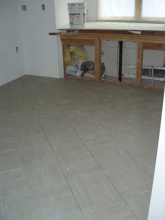 This is the floor in our master bath, not much to see in the photo...