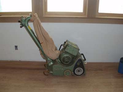 This is a sanding machine used on the floors.