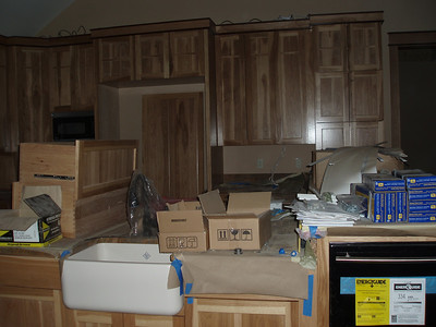 One day this messy kitchen will be filled with food platers and wonderful dishes...