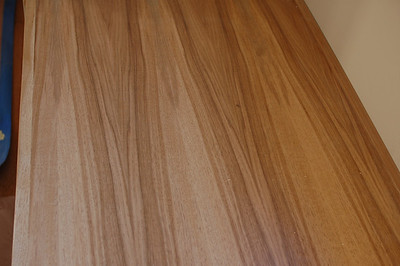This pretty piece of wood is the top of the window seat in our bedroom.
