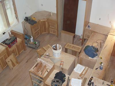 Birds eye view of the kitchen in progress