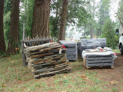 All of this stone will be used in our patios, exterior stairs and landscape.