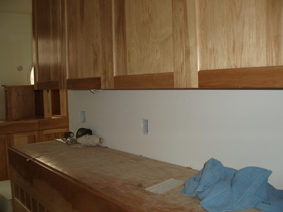 """This is a fun shot of some of the cabinets our bath/closet area.  We opted for a lot of """"built in storage"""" rather than furniture.  Keep tuned to see the fun tops made of Marble."""