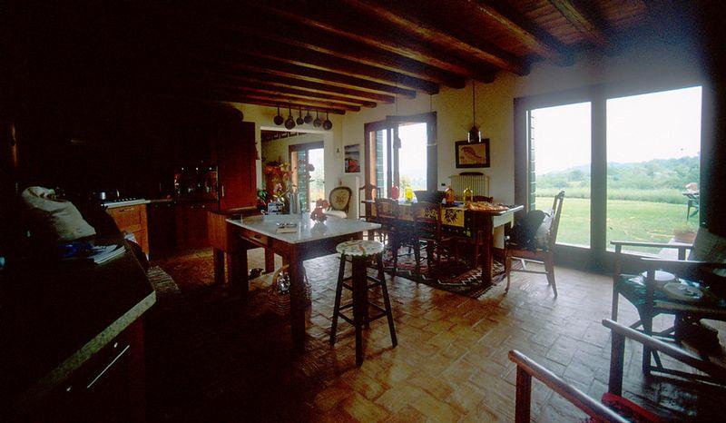 Kitchen toward front doors