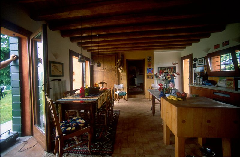 Kitchen toward dining room
