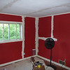 The Red room in spackle - different angle.
