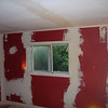 Red room in spackle.