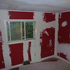 Red room - second coat of spackle - never too much...