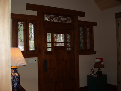 A glimpse at the front door from inside.