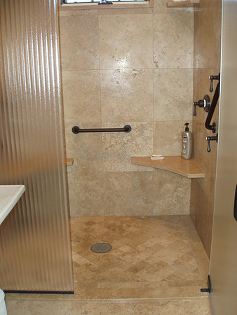 Easy access shower off the guest room.