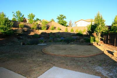 Pool sized back yard