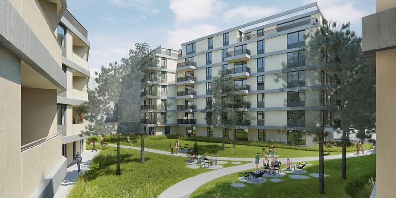 Cam 04:WB Wohnbebauung Schönbrunnerstrasse-Arndtstrasse rev7E012 Kamera 04:Ansicht Hof III