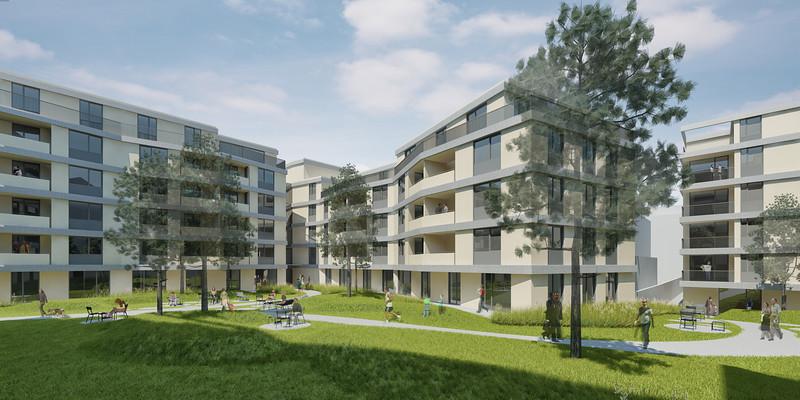 Cam 03:WB Wohnbebauung Schönbrunnerstrasse-Arndtstrasse rev7E012 Kamera 03:Ansicht Hof II