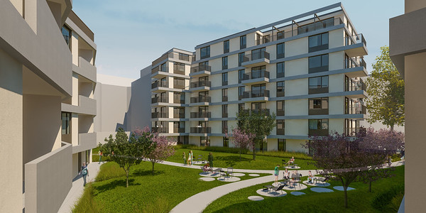 Wohnbebauung Schönbrunnerstrasse-Arndtstrasse 1120 Wien Kamera 04: Ansicht Hof