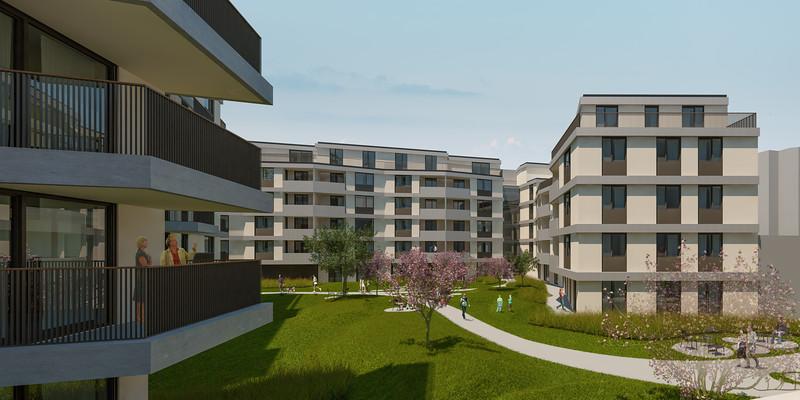 Wohnbebauung Schönbrunnerstrasse-Arndtstrasse 1120 Wien Kamera 02: Ansicht Hof