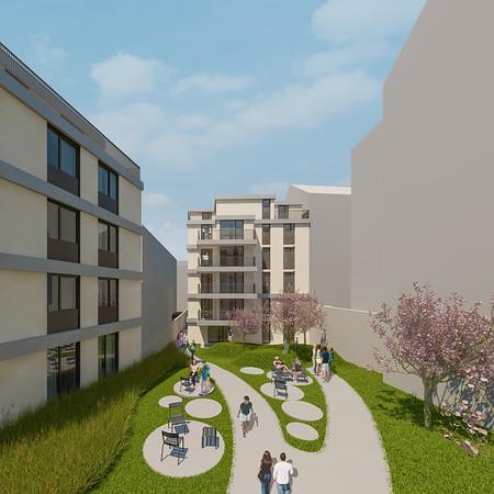 Wohnbebauung Schönbrunnerstrasse-Arndtstrasse 1120 Wien Kamera 05: Ansicht Hof