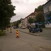 Her er fortsettelsen av veien der huset skal flyttes (Gamle Kongevei).