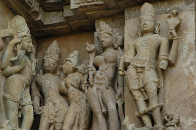 Carvings of Khajuraho Temples