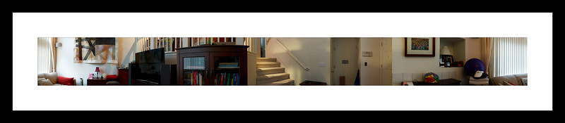 """Framed 360 degree panorama of  """"The Lobby""""."""