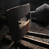Inter-changeable chimney for steam engines?<br /> Comandau-Valea Zanelor, Covasna narrow gauge railway. 2006