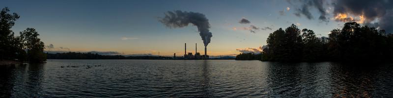 Duke Energy Progress and Lake Julian #13 (panorama)