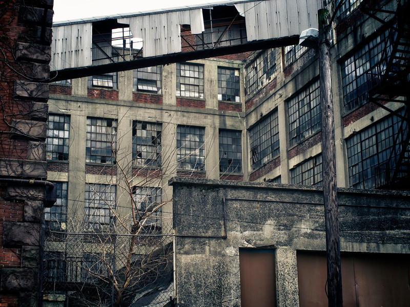 Old factory building in Hartford, CT