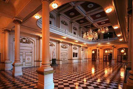 music hall lobby-up