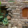 "The brick work, door and planting shown here are part of the ornamentation of a stone retaining wall constructed at a residence near Durham, NC.  See <a href=""http://www.alechimwich.com/Landscapes/Panoramas/Panoramas/11196391_jYSK4#798929246_CUWNG"">Stone wall panorama</a> for a general description of the wall itself.  Other details of this wall may be seen in this album."