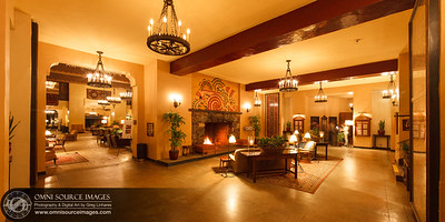 The Elevator Lounge - Ahwahnee Hotel - Yosemite National Park. HD Panorama digitally stitched from five vertical images. Each image exposed for 20 seconds at f/11, ISO 50, 24mm. (Original 10,503x4948 pixels). February 25, 2013 at 8:28 PM.