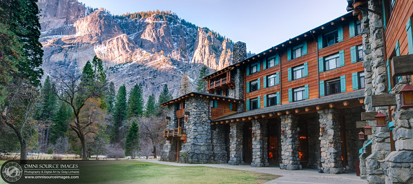 The Ahwahnee Exterior - Super HDR Panorama (10,755 x 4790 pixels/300dpi).