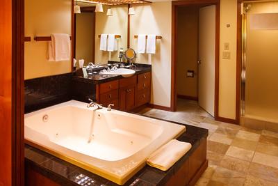 Hyatt Resort Room Interior - Jacuzzi Tub and Bathroom Area.