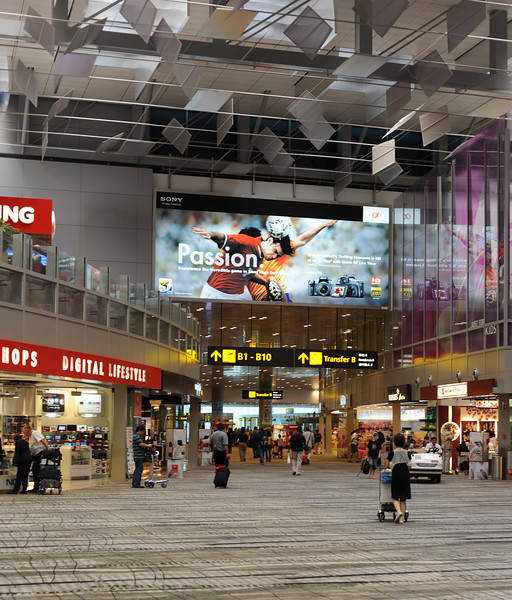 Changi Terminal 3 mall, Singapore