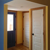New classic 5-panel interior doors and playful colors brightened up this North Highlands addition.