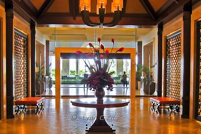 March 10, 2011 St Regis Hotel Entrance Princeville, Kauai