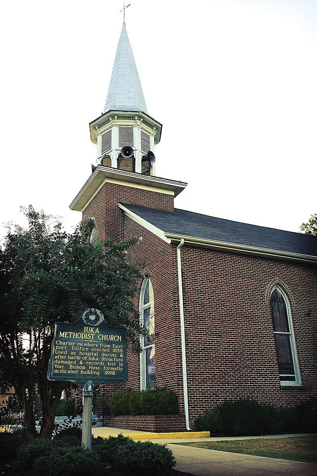 church sign w building