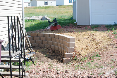 Jess' new retaining wall for Jim and Cheryl