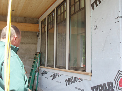Tim is checking out the future window exterior trim