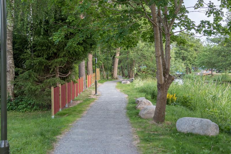 Nya Promenadstråket Östra sidan av Åkers Kanal