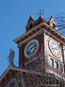 Lady Justice atop Butler Co. Courthouse