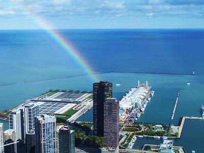Photo by Ken DerryFrom Trump Tower crane, Chicago