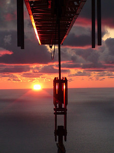 Photo by Ken Derry. &nbsp Sunrise over Lake Michigan.