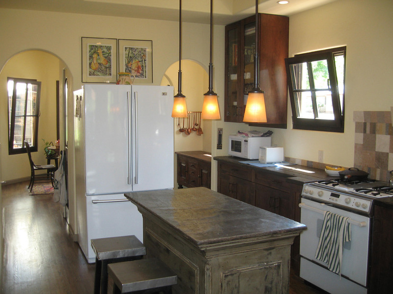 This kitchen has great flow and open feel, even thought it is small and cozy.