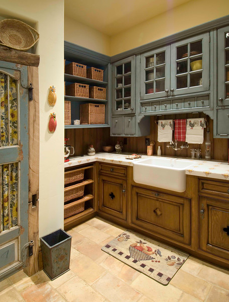 Charm and detail make this little baker's kitchen a favorite room in the house.